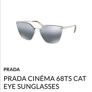 Prada mirrored cat eye sunglasses